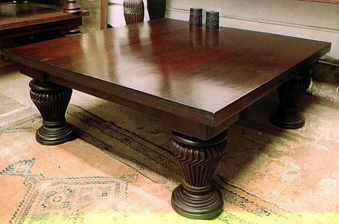 Square Mahogany Coffee Tables by Mahogany Tables Inc